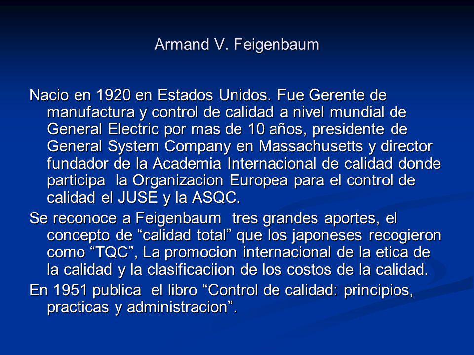 Teoría del DR.Armand Feigenbaum. El Dr. Armand V.