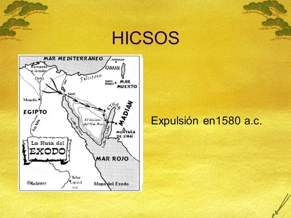 HICSOS Expulsión en1580 a.c.