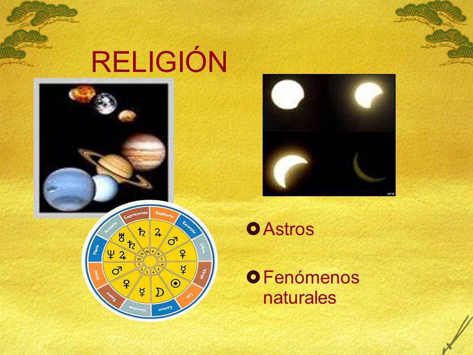 RELIGIÓN Astros Fenómenos naturales