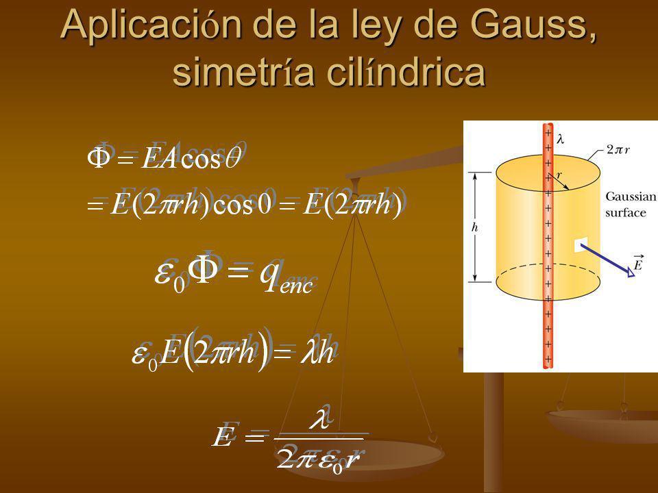Ejemplo de aplicación de la ley de Gauss Una Linea Recta e Infinita de Carga Lo de infinita es importante porque es lo que nos permite decir que todos