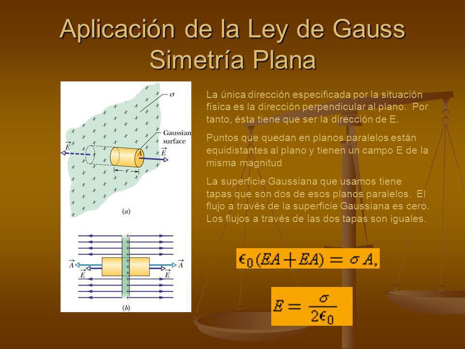 Para una l í nea infinita, con densidad lineal de carga uniforme, el campo el é ctrico en cualquier punto p, es perpendicular a la l í nea de carga y