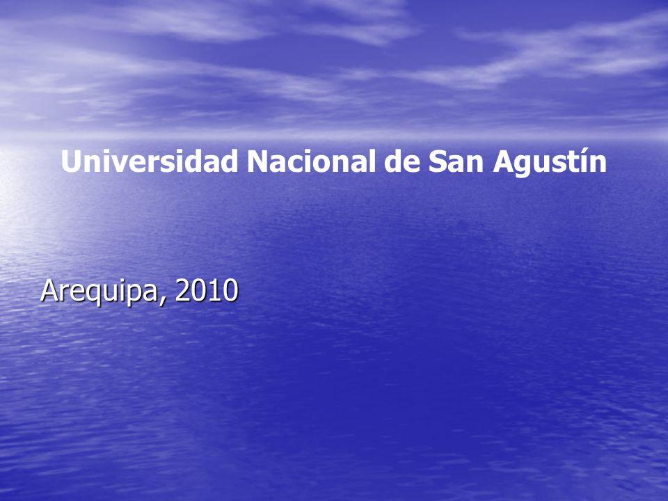 Universidad Nacional de San Agustín Arequipa, 2010