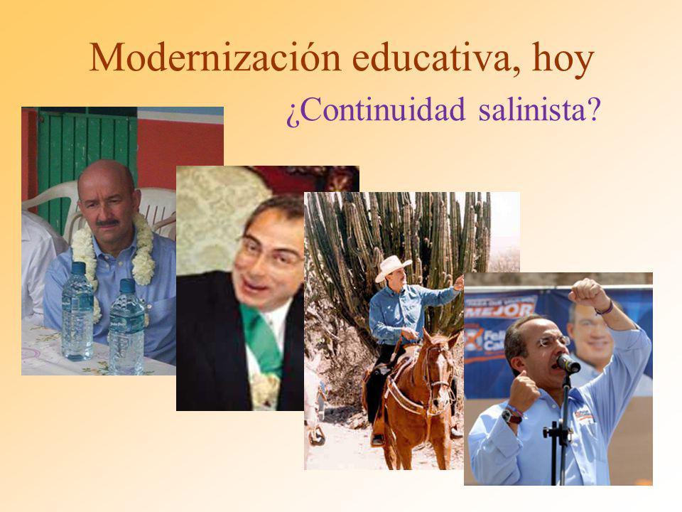 Modernización educativa, hoy ¿Continuidad salinista?