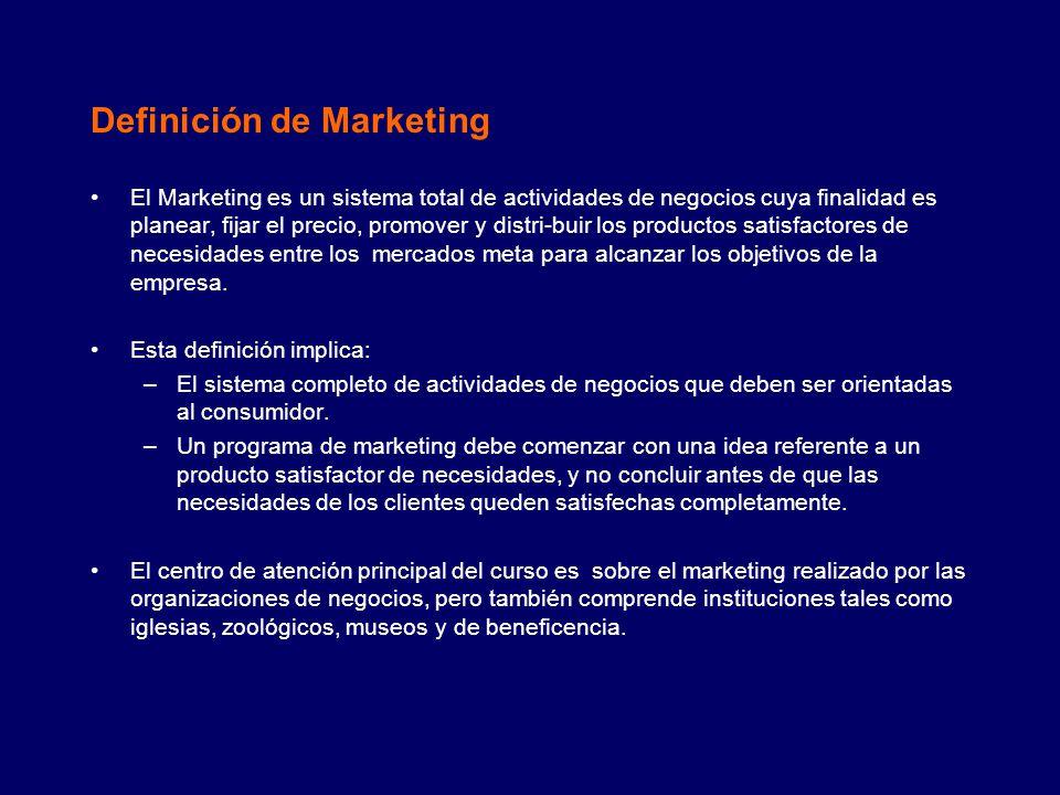 Evolución del Marketing (1/2) Un enfoque orientado a la producción con énfasis en la manufactura del producto.
