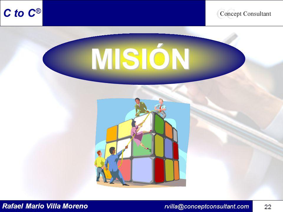Rafael Mario Villa Moreno rvilla@conceptconsultant.com 22 C to C ® MISIÓN