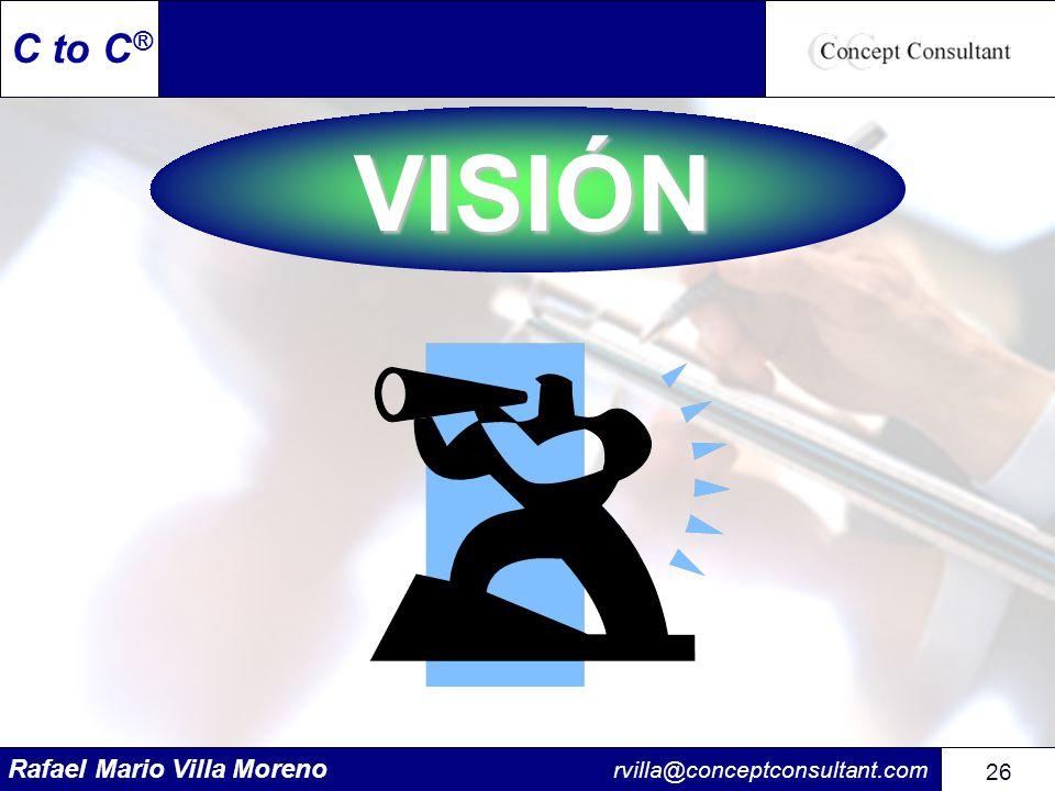 Rafael Mario Villa Moreno rvilla@conceptconsultant.com 26 C to C ®VISIÓN