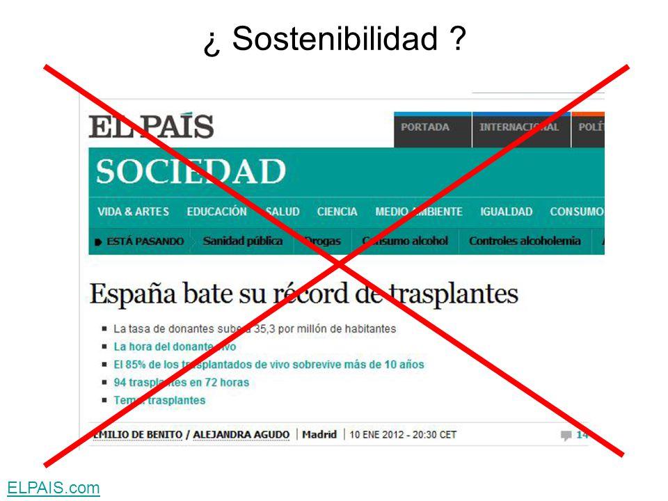¿ Sostenibilidad ?
