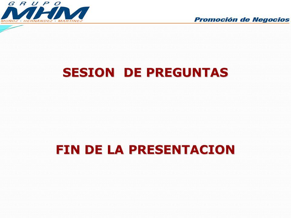 SESION DE PREGUNTAS FIN DE LA PRESENTACION