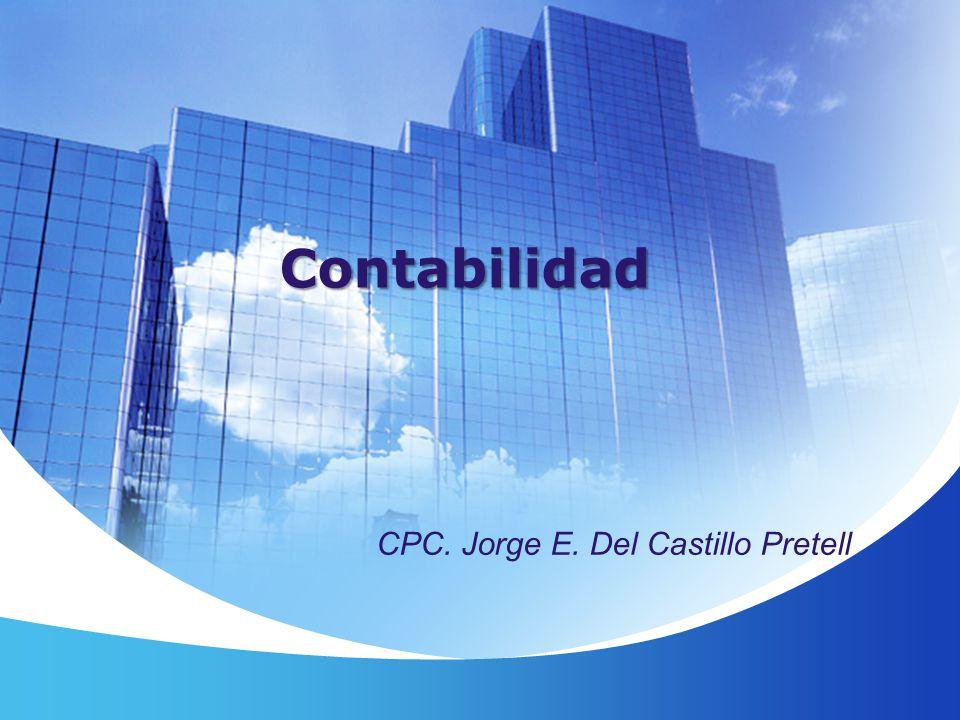 Contabilidad CPC. Jorge E. Del Castillo Pretell