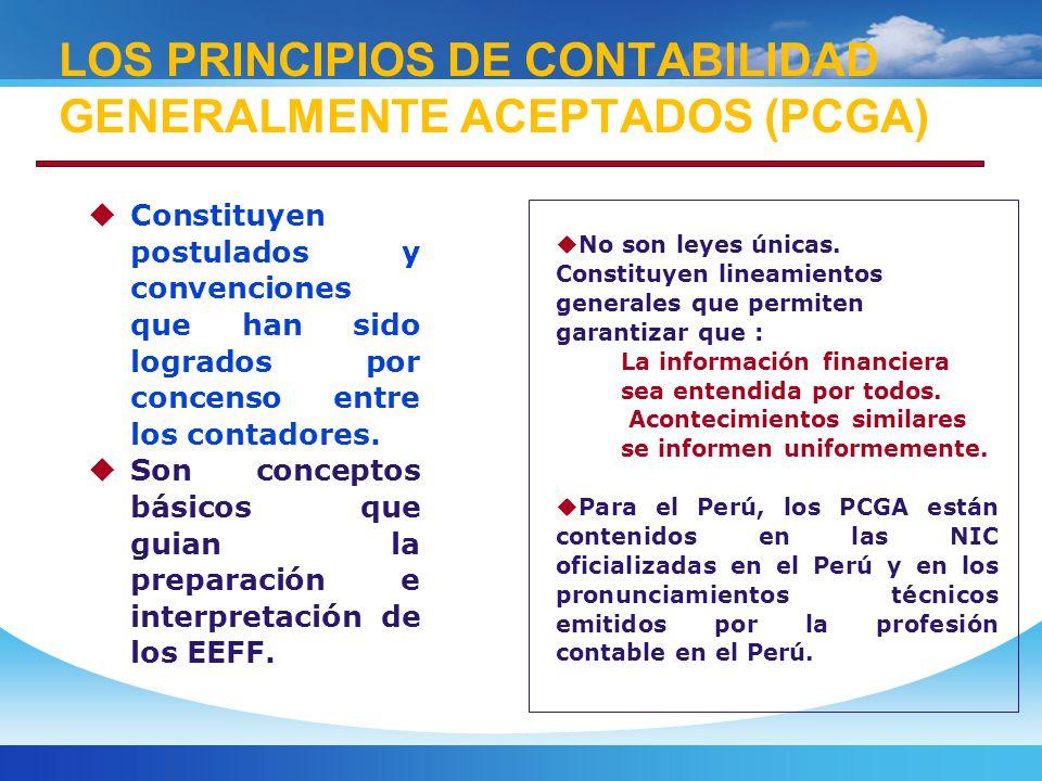Constituyen postulados y convenciones que han sido logrados por concenso entre los contadores.