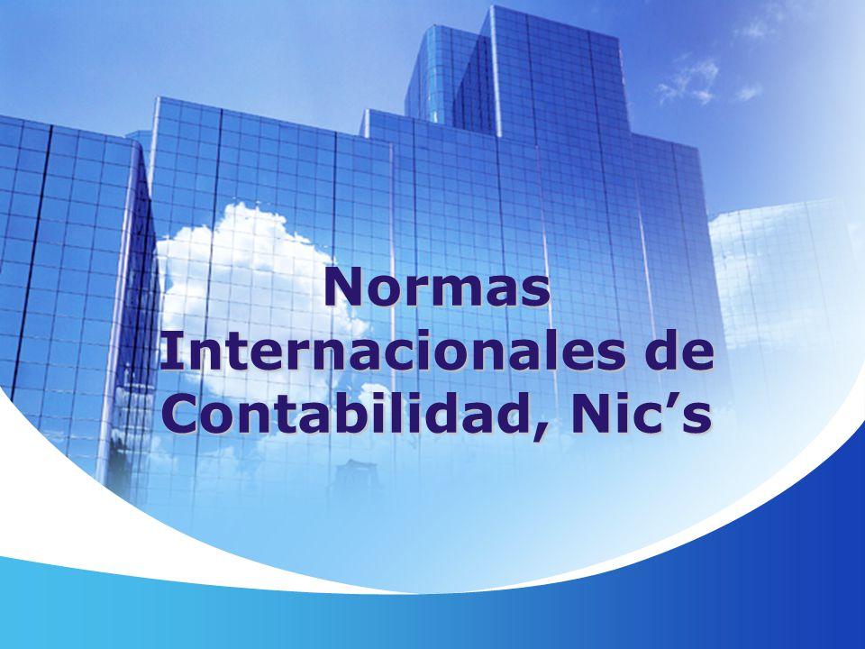 Normas Internacionales de Contabilidad, Nics