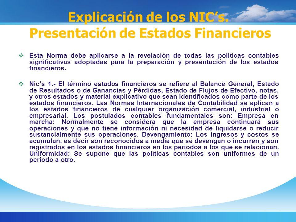 Explicación de los NICs.
