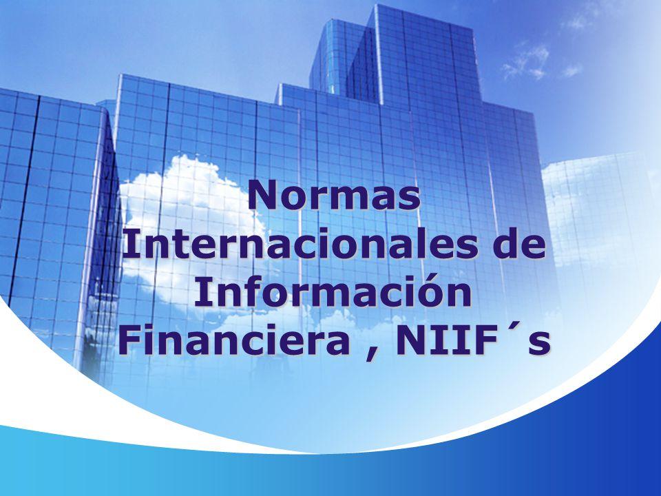 Normas Internacionales de Información Financiera, NIIF´s