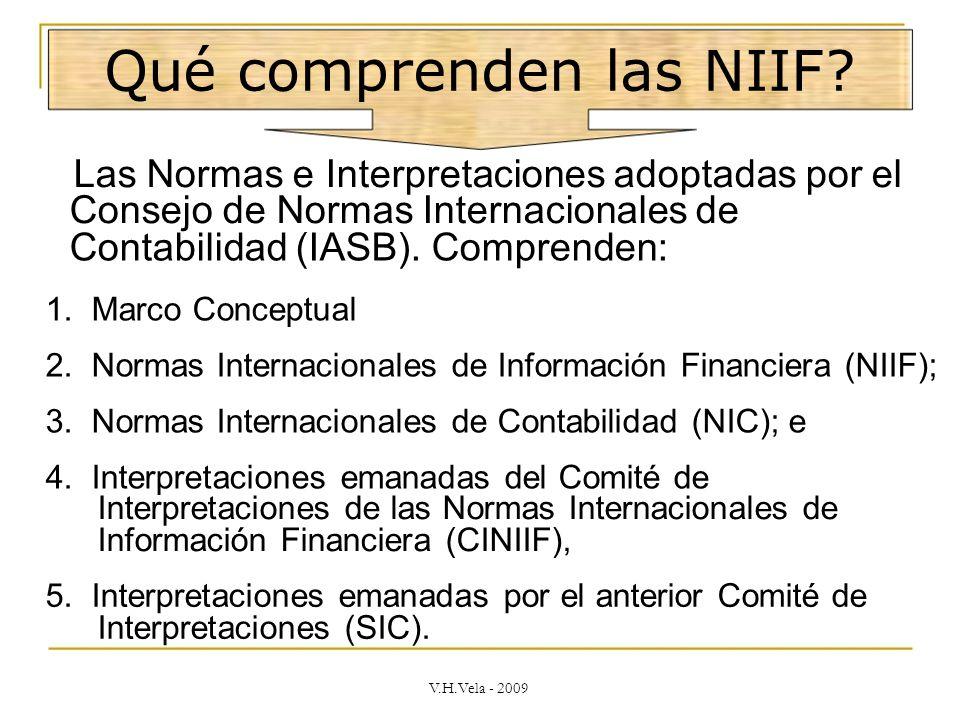 Qué comprenden las NIIF.