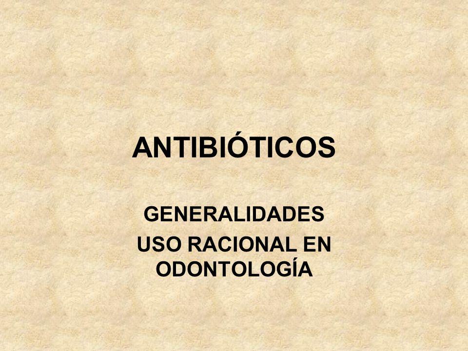 Indicaciones del uso de terapia combinada de antibióticos.