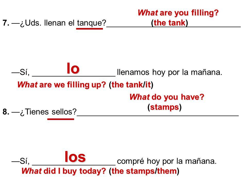 B.Escribe el equivalente español.