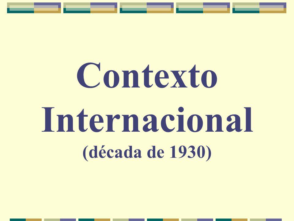 Contexto Internacional (década de 1930)