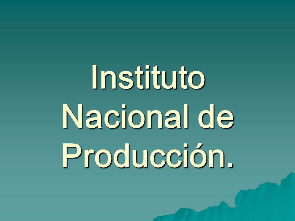 Instituto Nacional de Producción.
