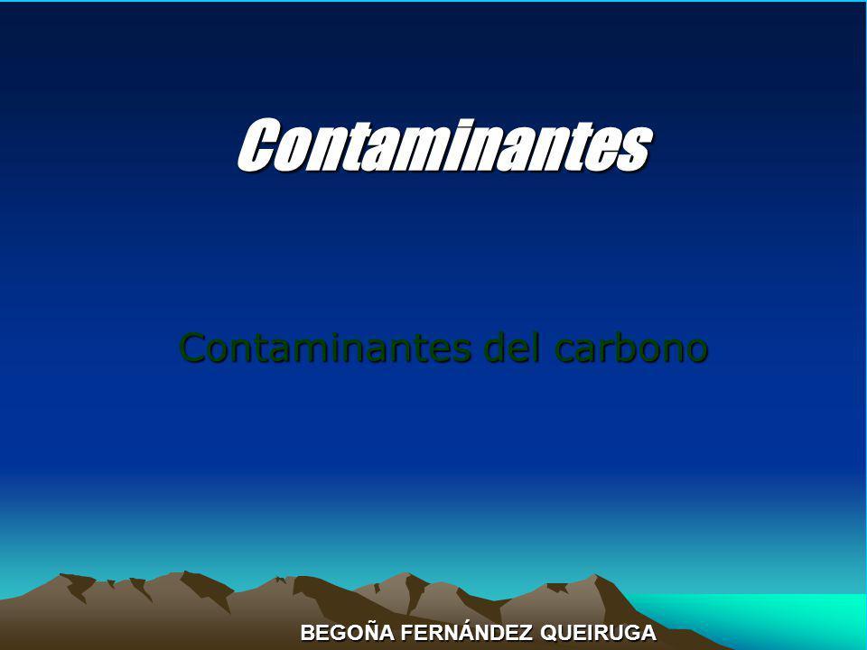 Contaminantes Contaminantes del carbono BEGOÑA FERNÁNDEZ QUEIRUGA