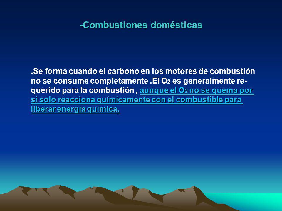 -Procesos industriales el 25% de emisiones de CO..Una de las fuentes de emisión de carbono es el consumo de petróleo en procesos industriales.