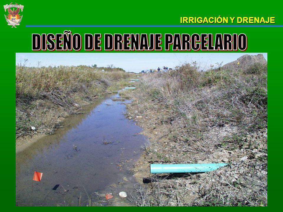 Un problema de drenaje agrícola es aquel que produce un exceso de agua y que directa o indirectamente afectan la cantidad, calidad u oportunidad de la producción agrícola.