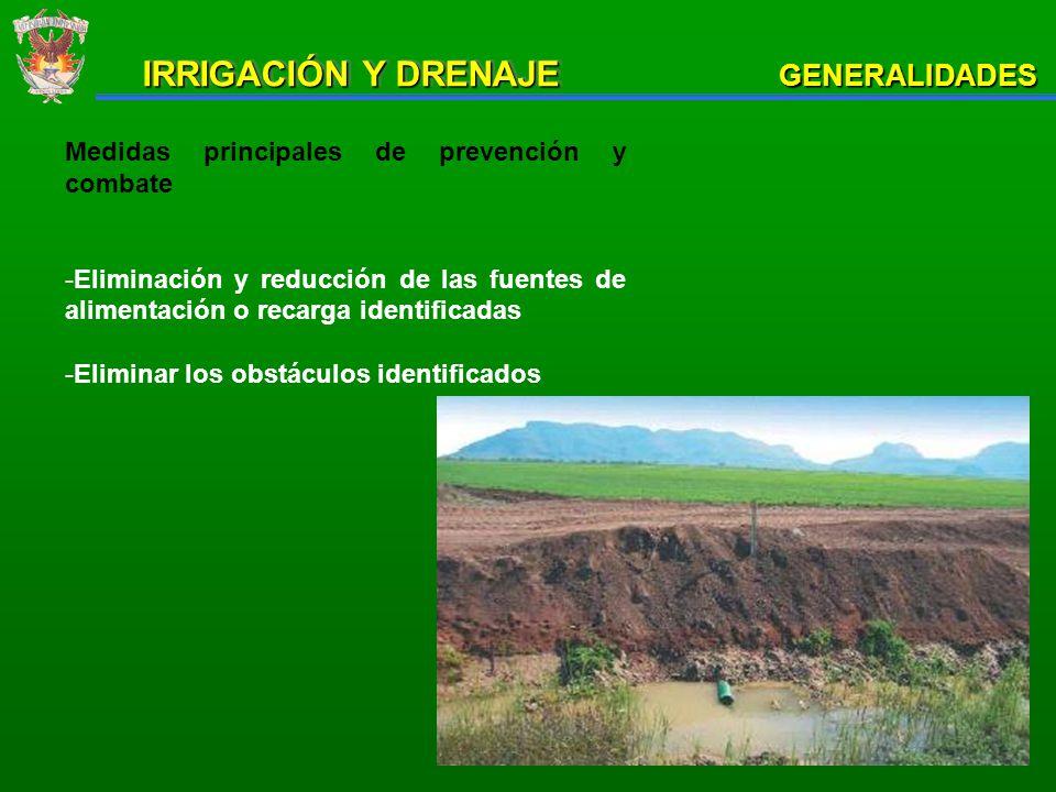 PRINCIPALES TIPOS DE DRENAJE AGRÍCOLA Las estructuras hidrogrícolas que sirven para remover los excesos de agua se les denomina drenes.