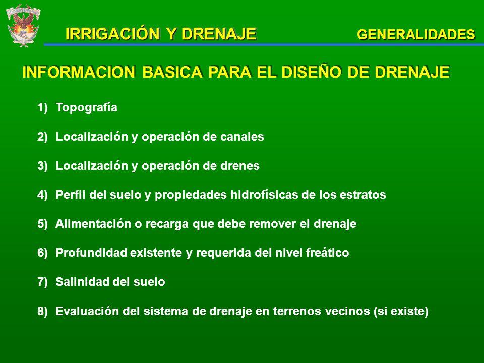NOS VEMOS EN IRRIGACION Y DRENAJE II GENERALIDADES IRRIGACIÓN Y DRENAJE