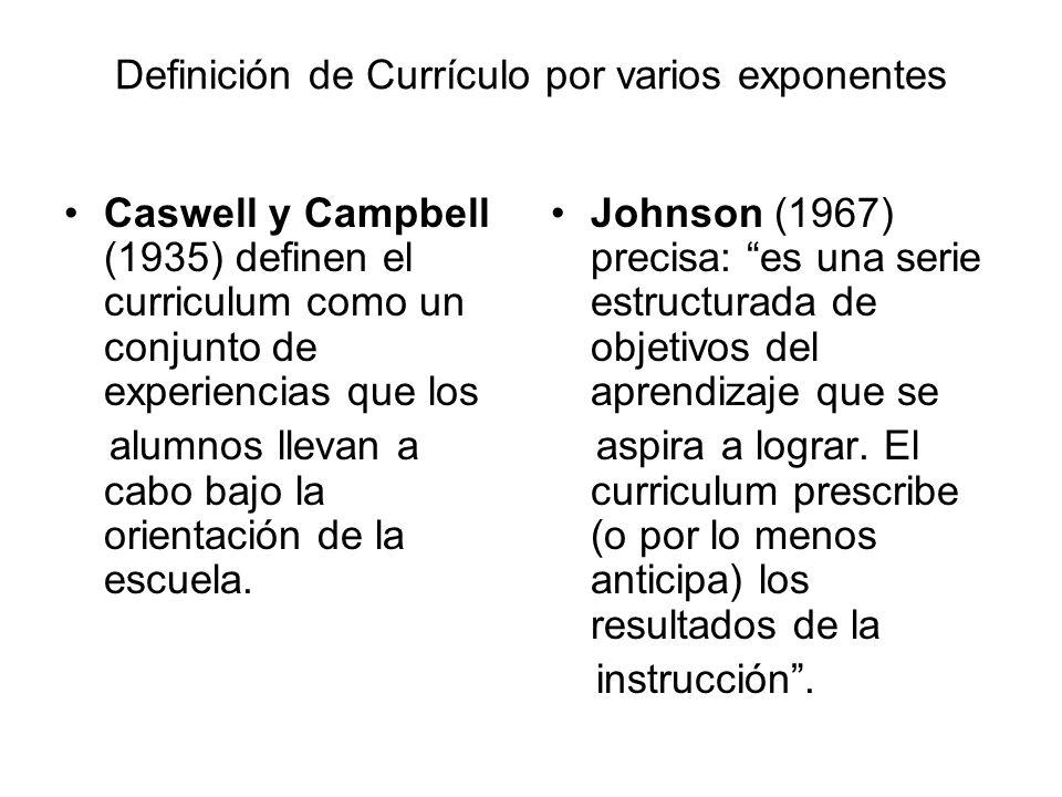 Taba (1974) concreta que el curriculum es un plan de aprendizaje.