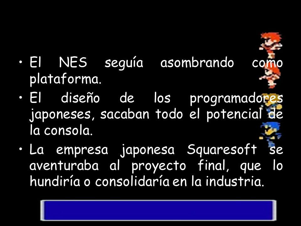 El NES seguía asombrando como plataforma. El diseño de los programadores japoneses, sacaban todo el potencial de la consola. La empresa japonesa Squar
