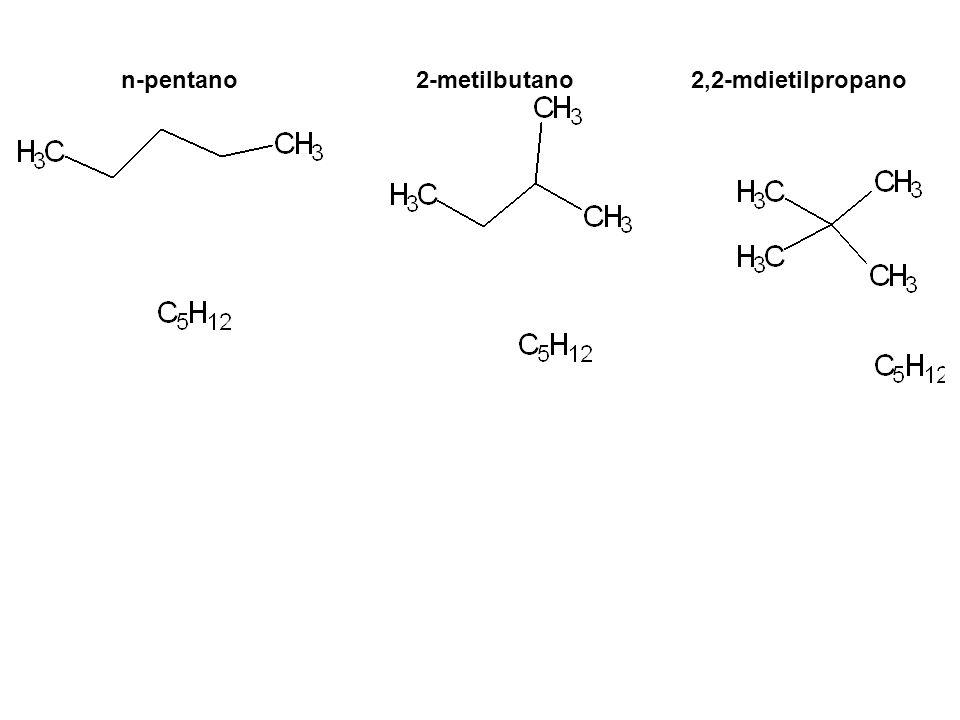 n-pentano2-metilbutano2,2-mdietilpropano