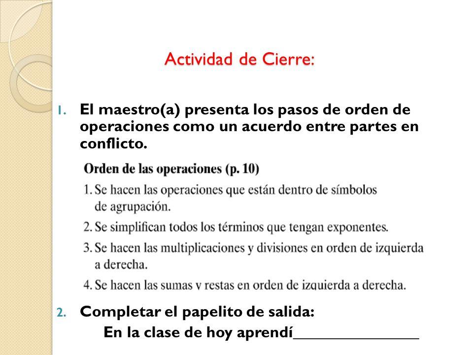 Actividad de Cierre: Actividad de Cierre: 1.