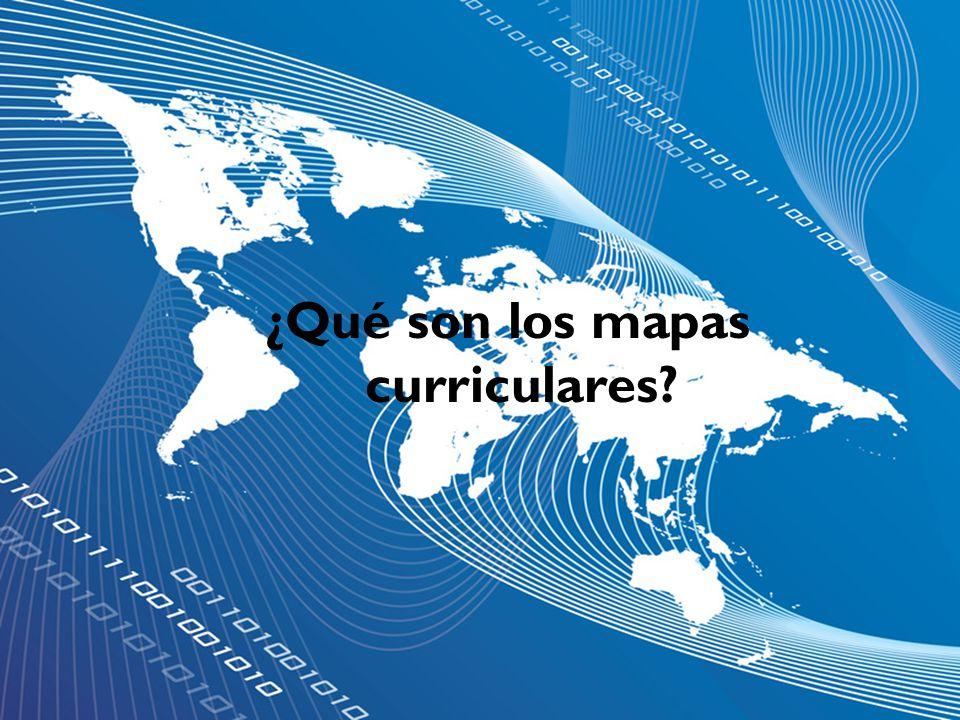 ¿Qué son los mapas curriculares?