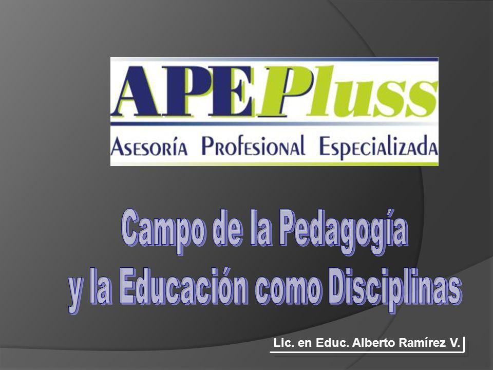 Lic. en Educ. Alberto Ramírez V.