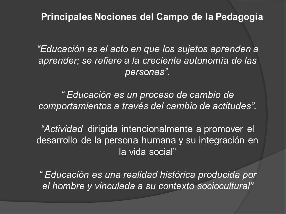 Educación es el acto en que los sujetos aprenden a aprender; se refiere a la creciente autonomía de las personas. Educación es un proceso de cambio de
