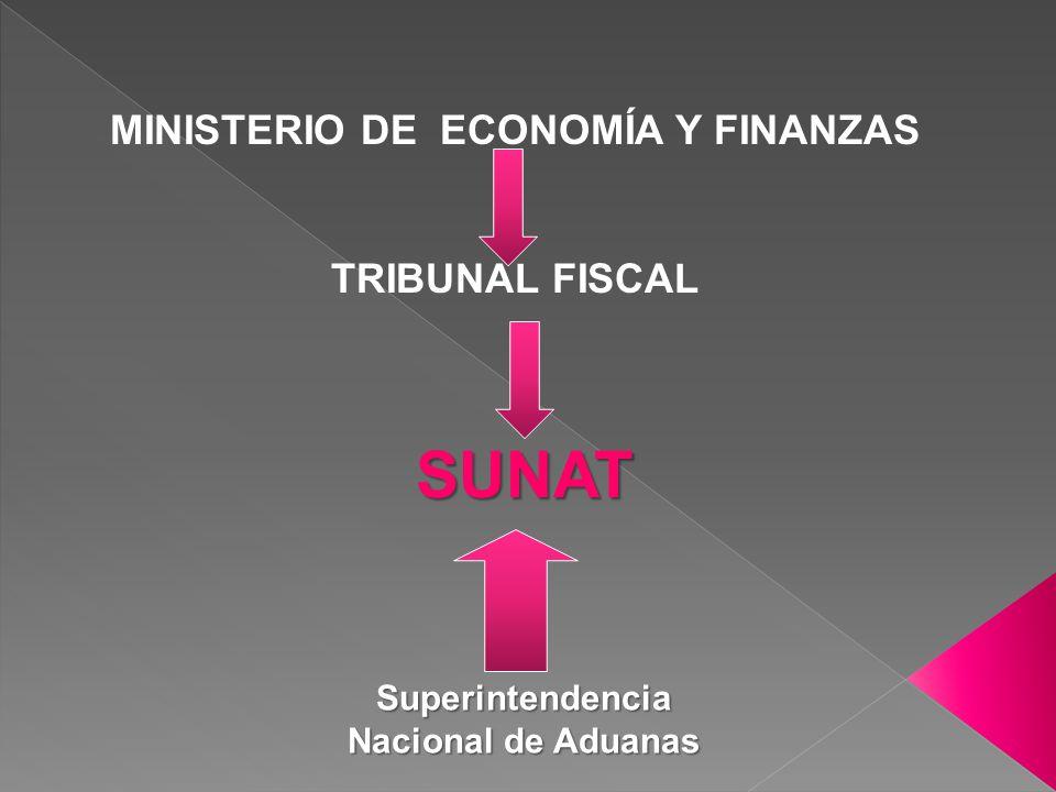 MINISTERIO DE ECONOMÍA Y FINANZAS TRIBUNAL FISCAL SUNAT Superintendencia Nacional de Aduanas