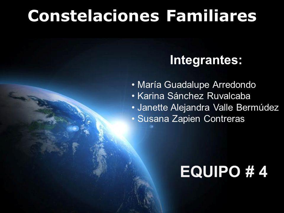 Page 1 Constelaciones Familiares Integrantes: María Guadalupe Arredondo Karina Sánchez Ruvalcaba Janette Alejandra Valle Bermúdez Susana Zapien Contre