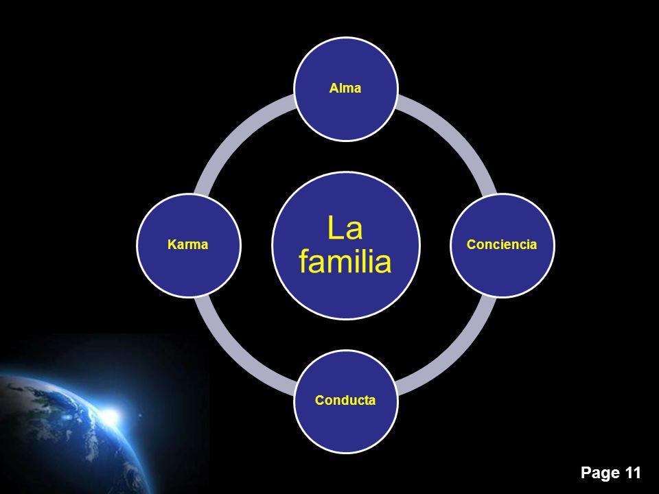 Page 11 La familia AlmaConcienciaConductaKarma