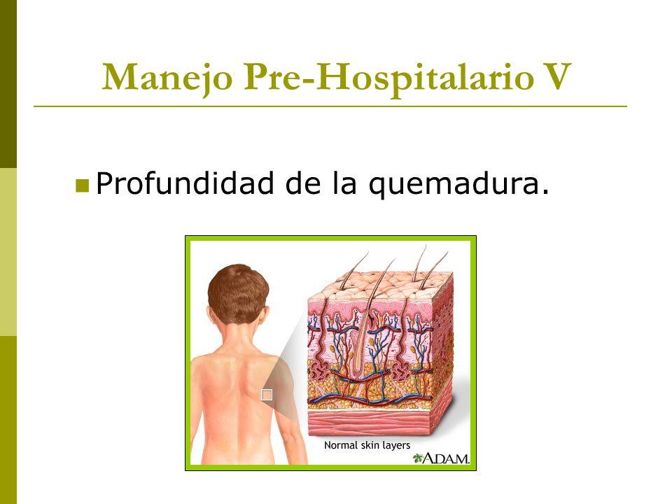 Manejo Pre-Hospitalario V Profundidad de la quemadura.