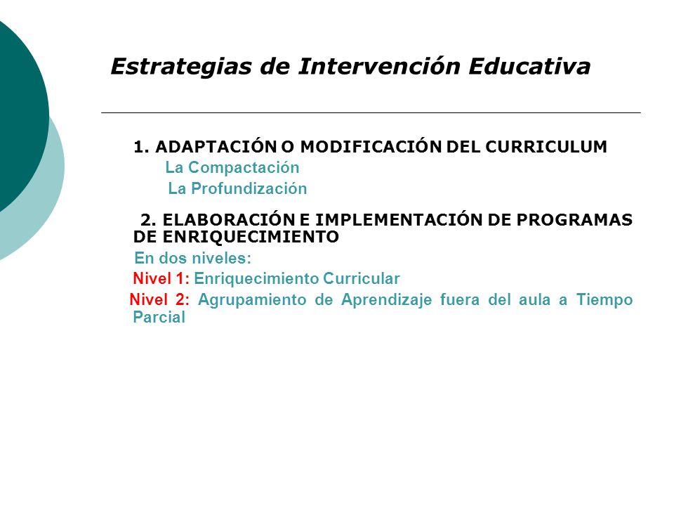 Estrategias de Intervención Educativa 1.