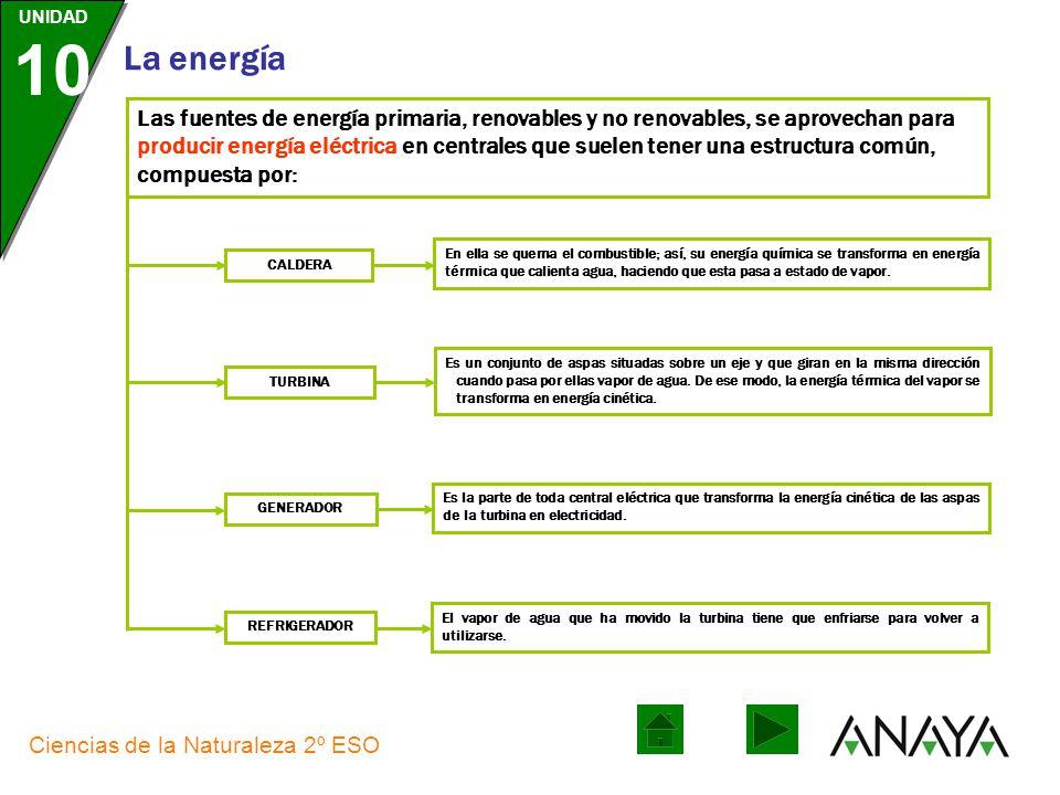UNIDAD 10 La energía Ciencias de la Naturaleza 2º ESO La energía eléctrica ES La más demandada del mundo industrializado. DEPENDEMOS DE ELLA PARA El t
