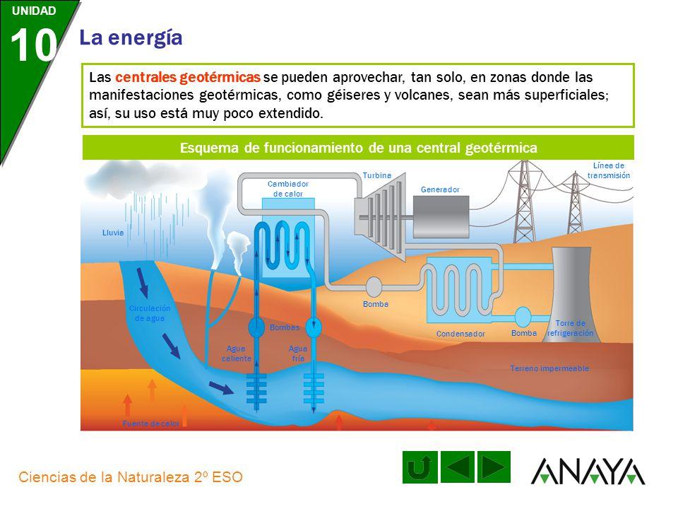 UNIDAD 10 La energía Ciencias de la Naturaleza 2º ESO Las centrales hidroeléctricas utilizan una energía renovable, ya que el agua almacenada en los e