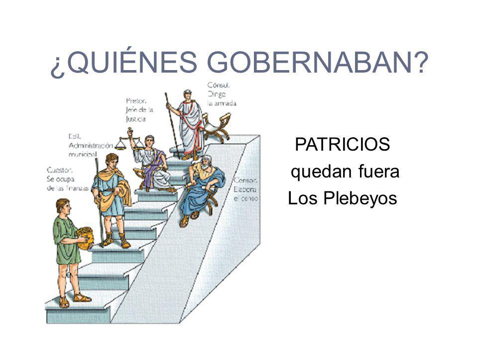 TARQUINIO EL SOBERBIO EXPULSADO POR QUERER DARLE A LOS PLEBEYOS DERECHOS
