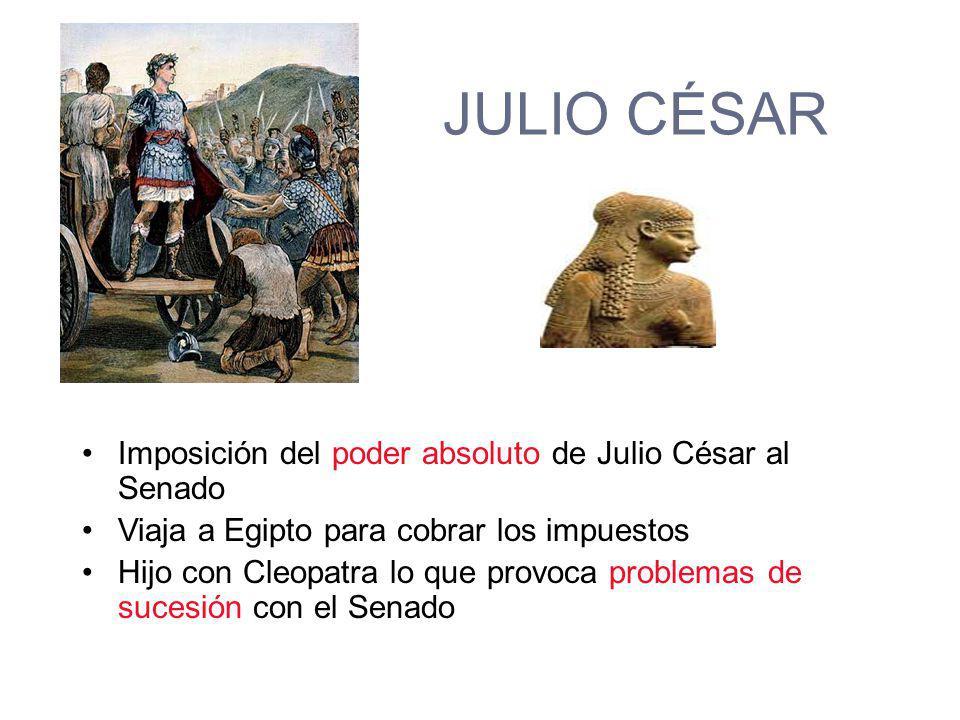 PRIMER TRIUNVIRATO 59 - 46 a.C. POMPEYO CRASO JULIO CÉSAR
