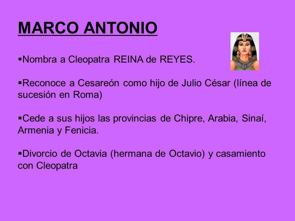 HIJOS Mellizos: Cleopatra y Alejandro Ptolomeo