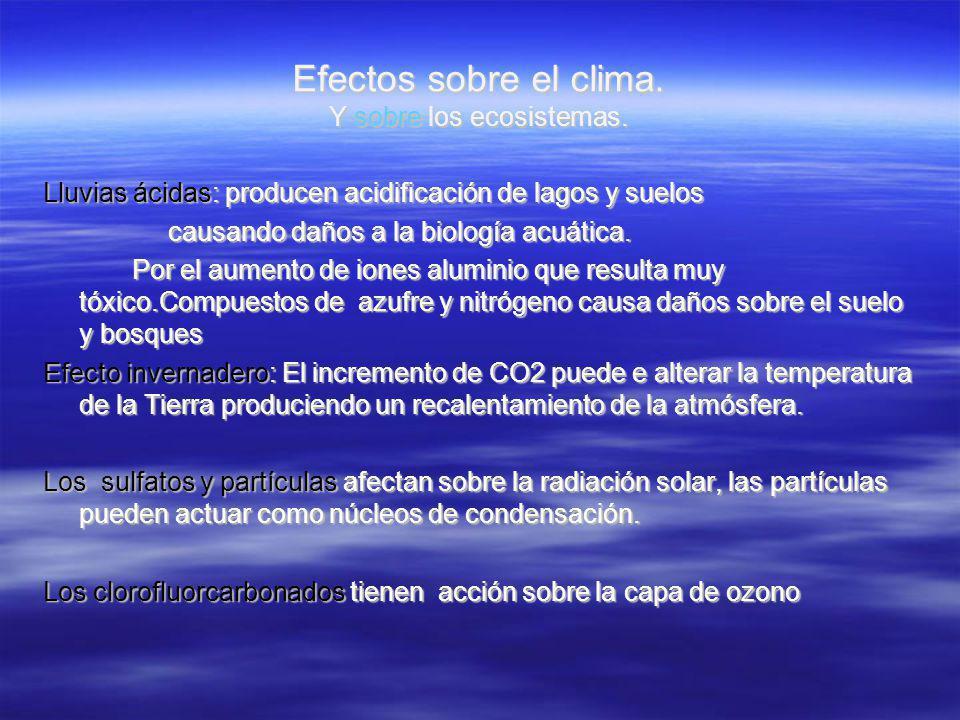 Efectos sobre el clima. Y sobre los ecosistemas.