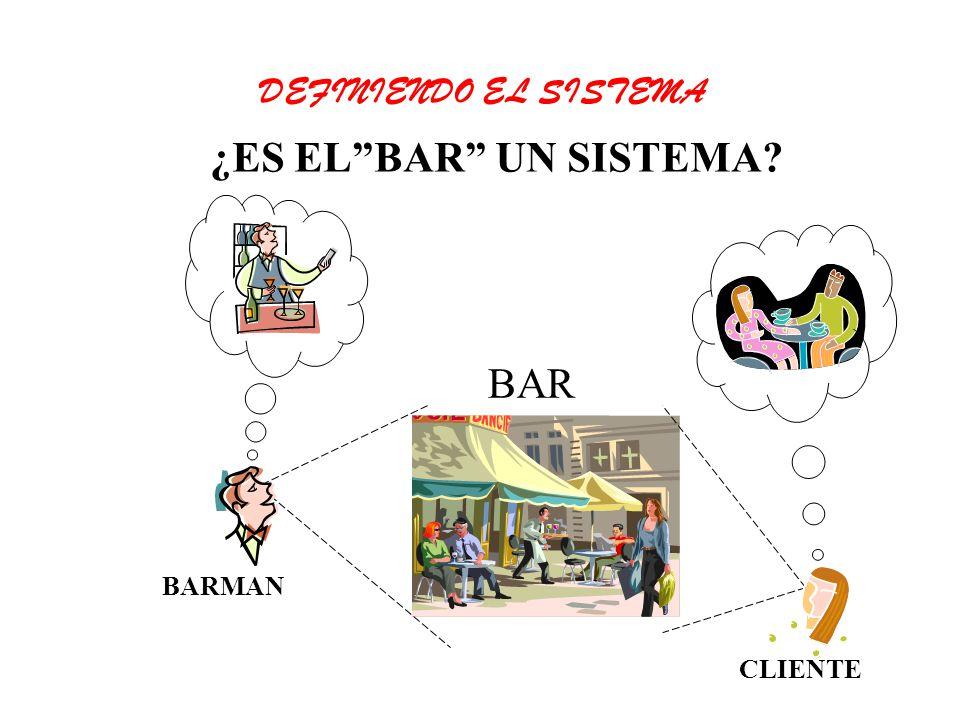 BAR BARMAN CLIENTE ¿ES ELBAR UN SISTEMA? DEFINIENDO EL SISTEMA