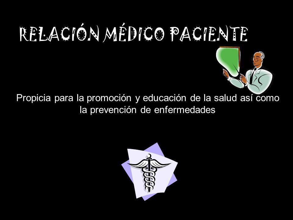 Propicia para la promoción y educación de la salud así como la prevención de enfermedades