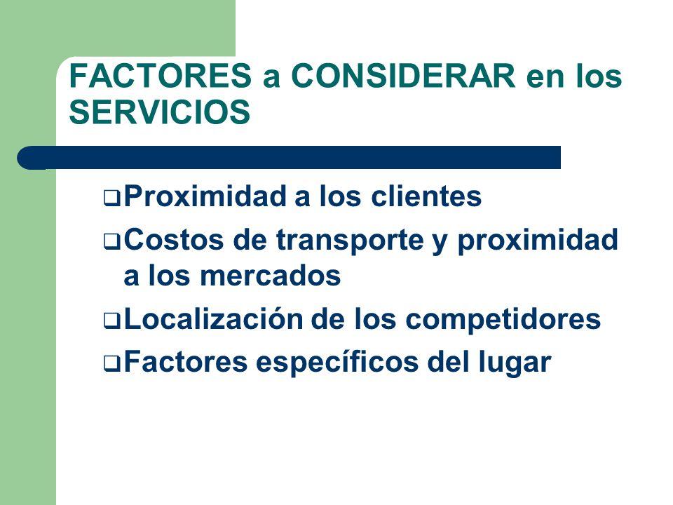 FACTORES a CONSIDERAR en los COMERCIOS: Mercaderías de conveniencia Mercaderías de comparación