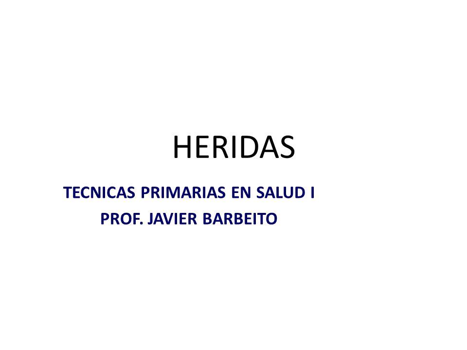 HERIDAS TECNICAS PRIMARIAS EN SALUD I PROF. JAVIER BARBEITO