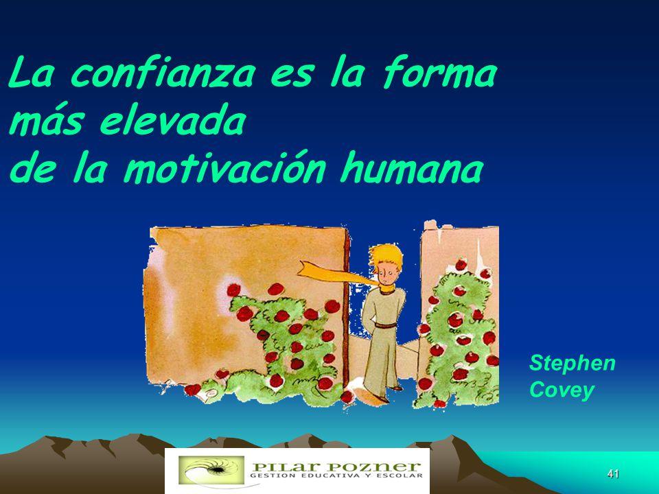 MAESTRA PILAR POZNER pilarpozner@gmail.com40 Honestidad Inspirador Visionario Proactivo Ofrezca ejemplo Competente Con autonomía Desarrolle confianza.